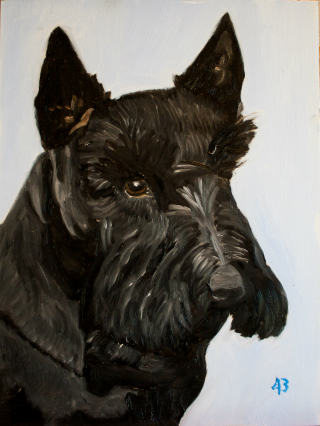 Barney oil painting by george w bush