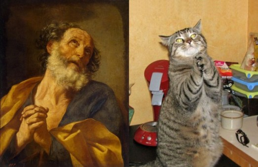 cats posing as famous art paintings ipawz
