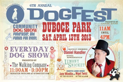 dogfest 2013 lemony snicket duboce park sf
