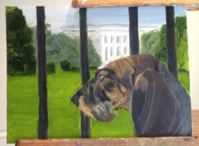 george w bush dog painting
