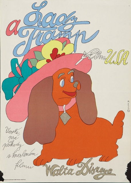 lady and the tramp czech poster