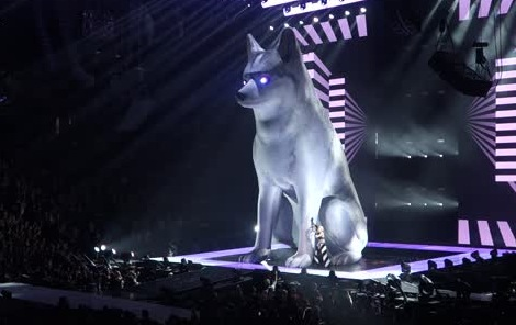 miley cyrus floyd inflatable dog concert tour