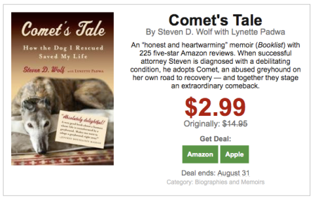 comet's tale how the dog I rescued saved my life bookbub steven wolf lynette padwa