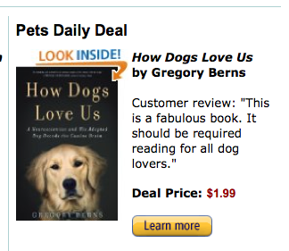 how dogs love us gregory berns kindle daily deal pets